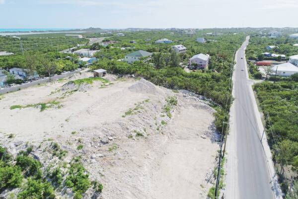 quarry site in the Turks and Caicos