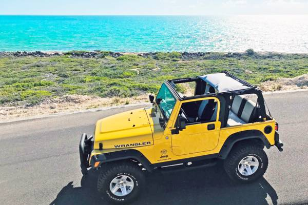 rental Jeep Wrangler in the Turks and Caicos
