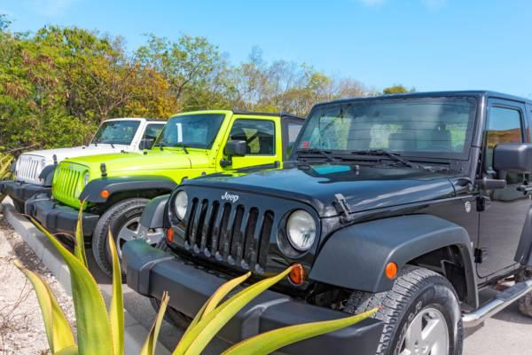 rental Jeep Wrangler on Providenciales
