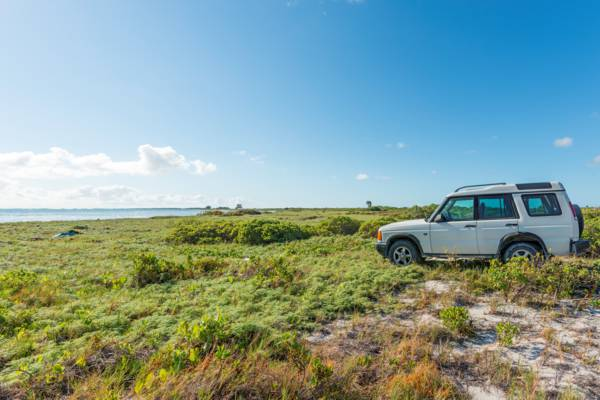rental 4x4 SUV at Middle Caicos