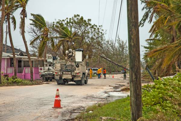 utilities repairs in Blue Hills on Providenciales after a hurricane