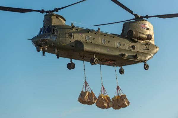 United Kingdom Royal Air Force Chinook at Salt Cay