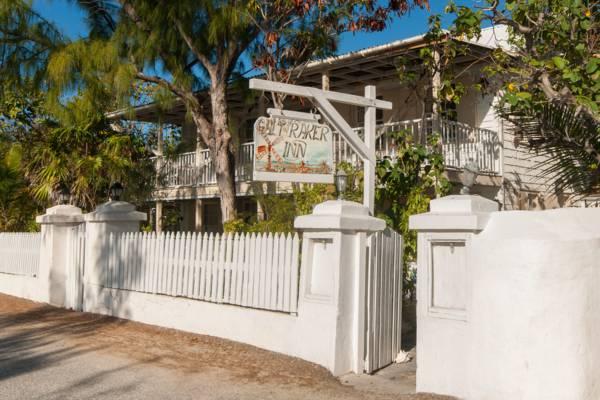 the gate on Duke Street for the Salt Raker Inn on Grand Turk