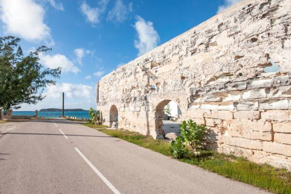 salt warehouse ruin on South Caicos