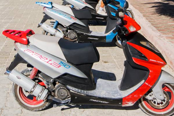 rental scooters at Cockburn Town on Grand Turk