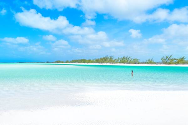 secluded beach in the Turks and Caicos