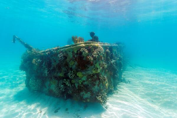 landing craft shipwreck in the Caicos Banks