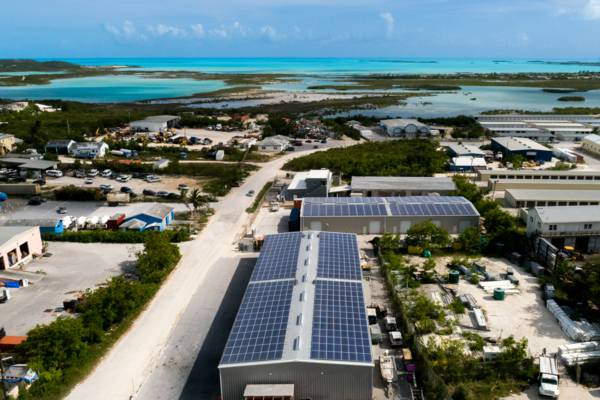 solar installation in the Turks and Caicos