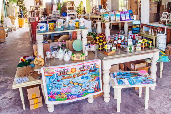 the gift shop at the Salt House in the Turks and Caicos