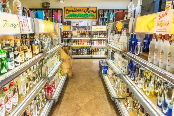 alcohol store in Turks and Caicos