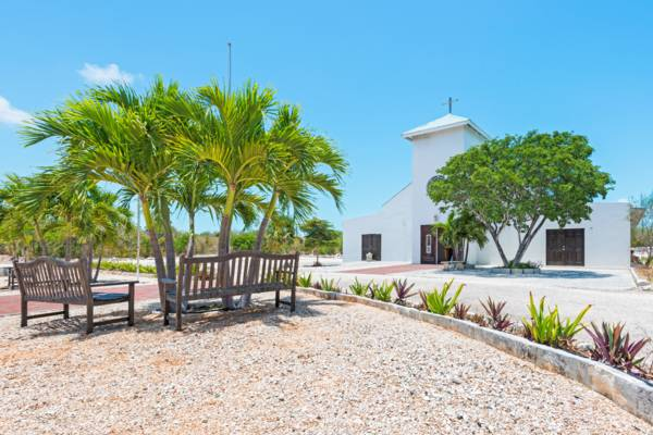 the grounds at the St. Monica Anglican Church in Downtown Providenciales