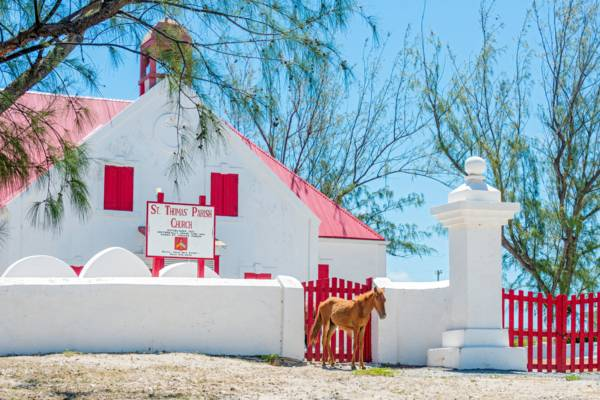 the colonial St. Thomas Church on Grand Turk in the Turks and Caicos