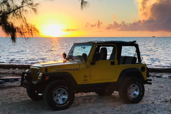 Jeep Wrangler in Turks and Caicos