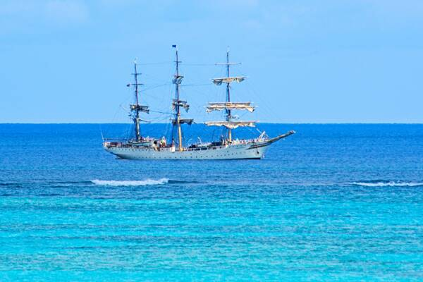 Norwegian heritage tall ship The Sørlandet in the Turks and Caicos