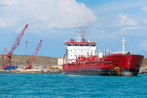 fuel tanker in the Turks and Caicos