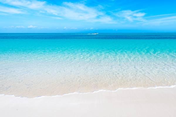 the pristine Bight Beach in the Turks and Caicos