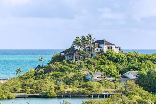 luxury vacation mansion at Thompson's Cove and Blue Mountain in the Turks and Caicos