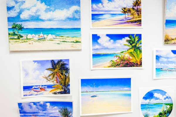 water colour prints from the Turks and Caicos