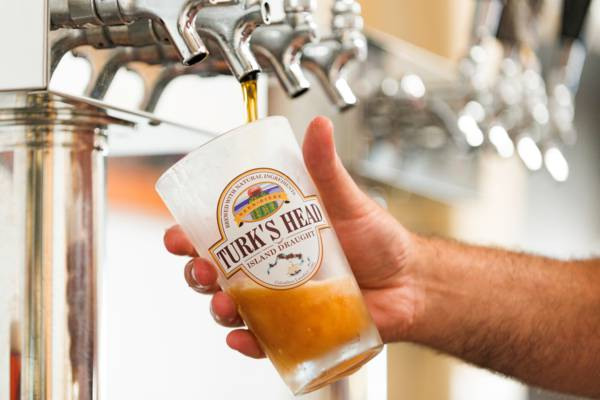 Turk's Head beer at the tap