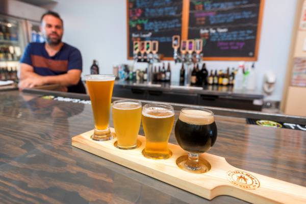 assortment of craft beers at the Turks Head Brewery on Providenciales