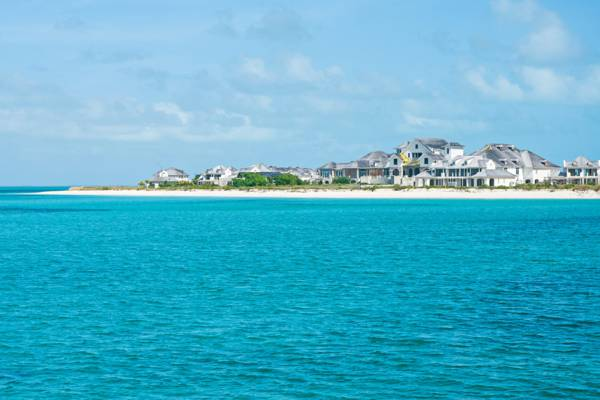 the unfinished Molasses Reef Resort on West Caicos in the Turks and Caicos