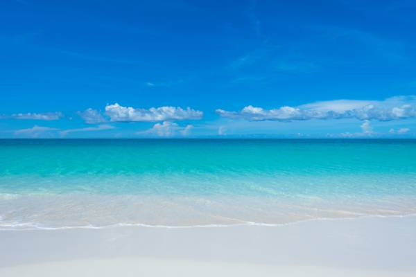the exquisite Grace Bay Beach in the Turks and Caicos