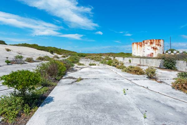 rainwater catchment facility at the abandoned Coast Guard Station on South Caicos