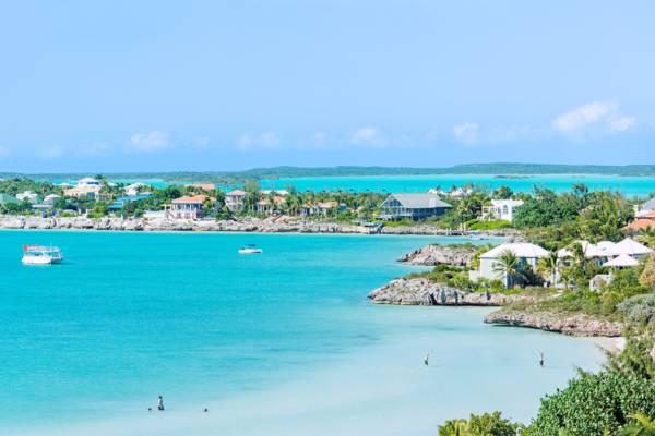 Sapodilla Bay and Chalk Sound in the Turks and Caicos