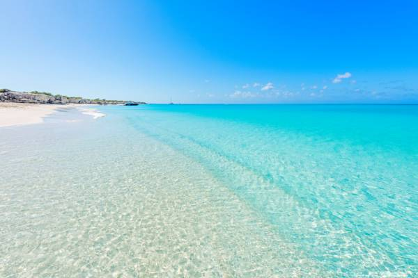 Water Cay Beach in the Turks and Caicos