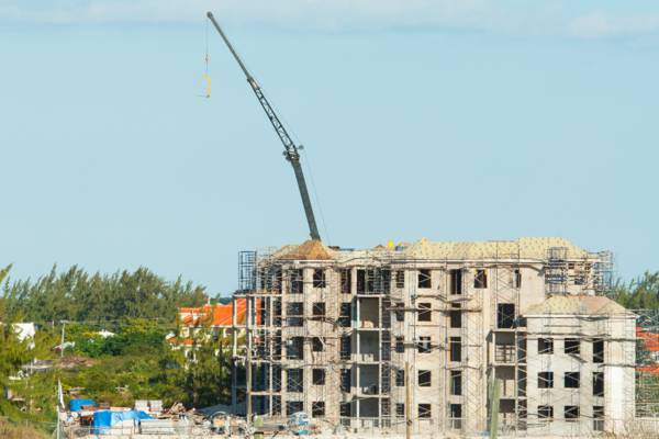 resort under construction in the Turks and Caicos