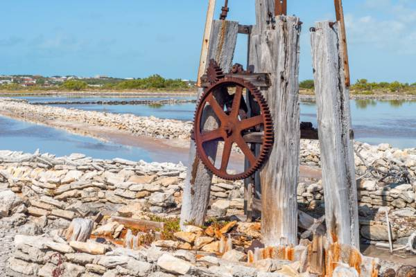 ruins of the salt industry on South Caicos