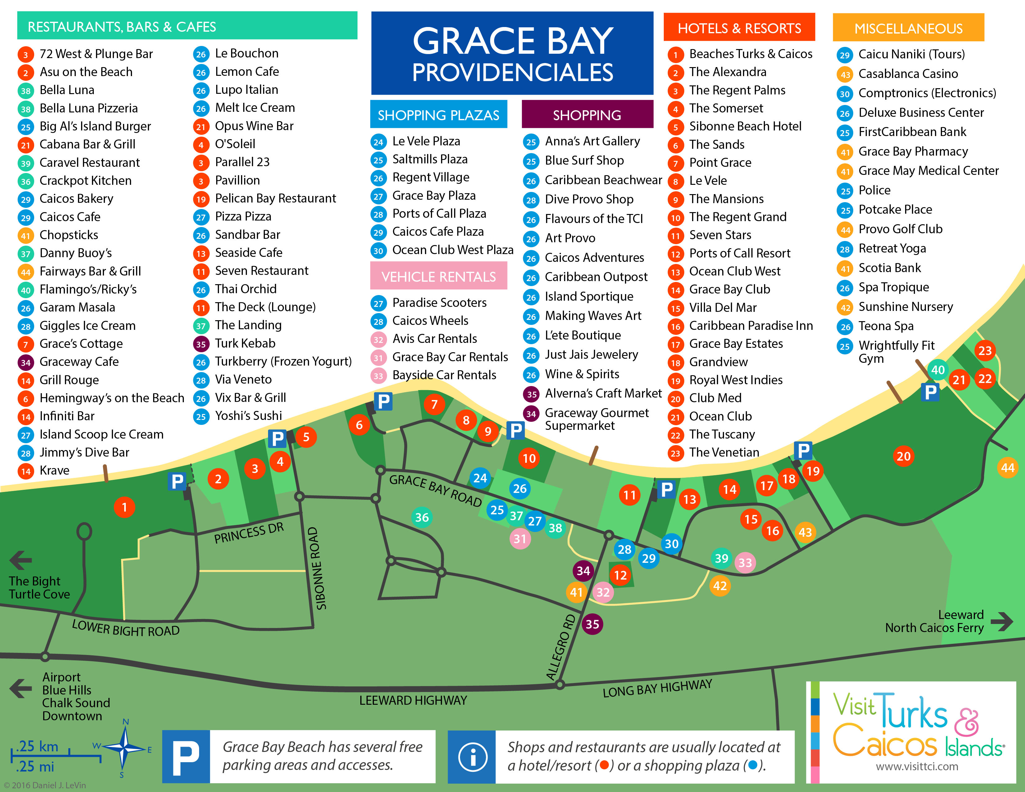 Grace Bay Map Jpg Of Providenciales
