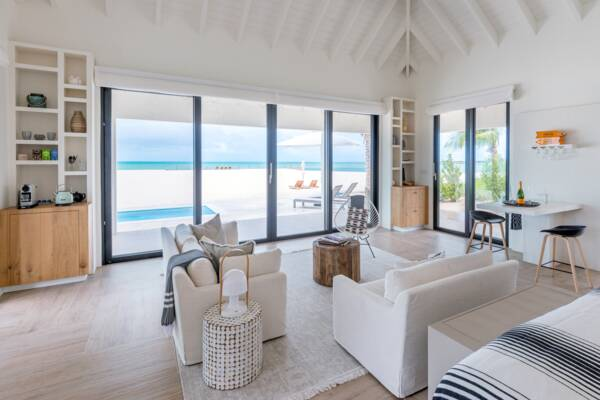 villa at the Ambergris Cay Resort in the Turks and Caicos