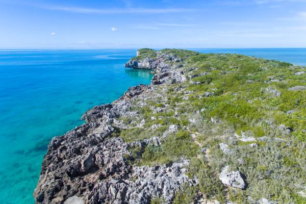 West Harbour Bluff in the Frenchman's Creek and Pigeon Pond Nature Reserve in the Turks and Caicos