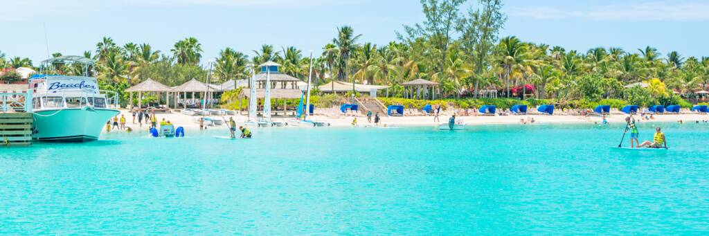 the turquoise water of Grace Bay fronting Beaches Resort