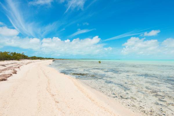 Bell Sound lagoon in the Turks and Caicos