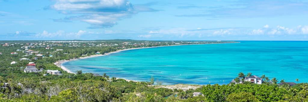 the view from Blue Mountain in the Turks and Caicos