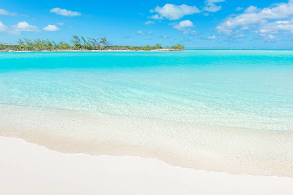 secluded beach near Middle Caicos in the Turks and Caicos Islands