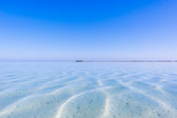 calm and shallow water at Bottle Creek lagoon, Turks and Caicos