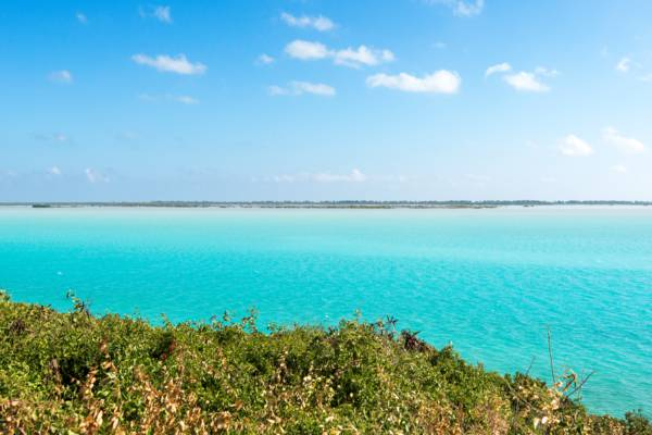 turquoise water at Bottle Creek, North Caicos