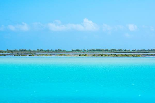 Bottle Creek lagoon and Bay Cay, Turks and Caicos