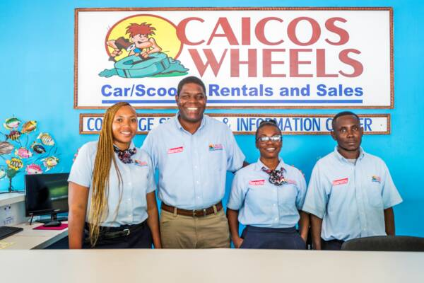 staff at Caicos Wheels car rental