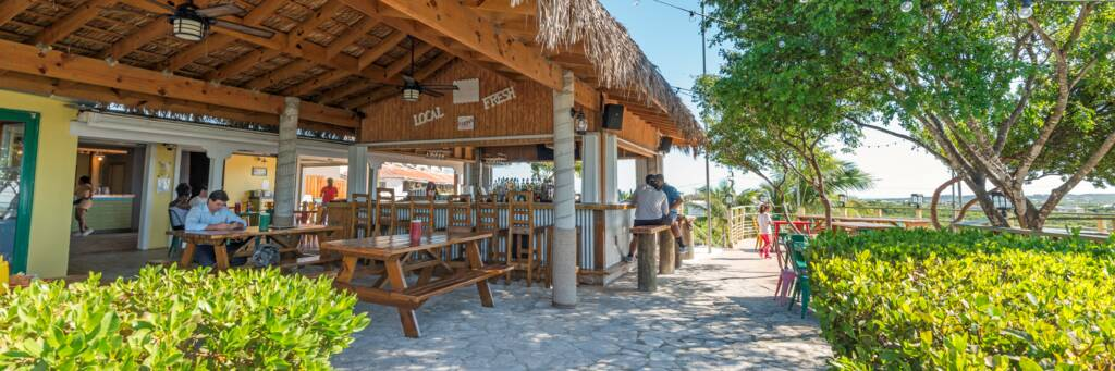 Chinson's Grill Shack restaurant in the Turks and Caicos
