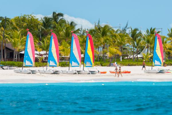 Hobie Cats and the turquoise water of Grace Bay at Club Med