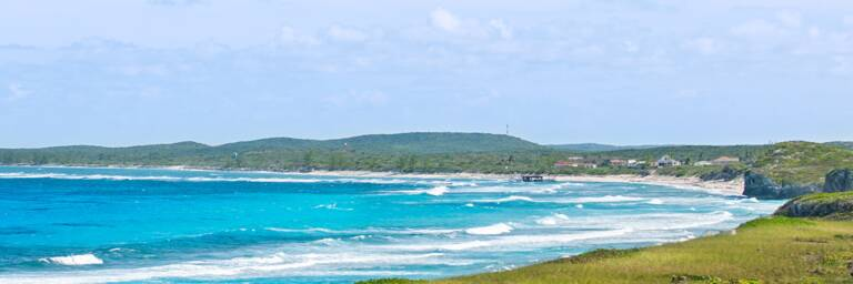 waves and surf at Conch Bar Beach, Middle Caicos
