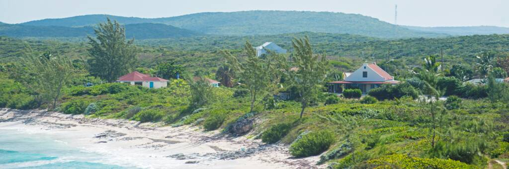 the village of Conch Bar on Middle Caicos