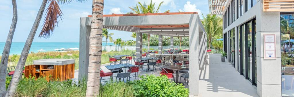 Coralli restaurant on Grace Bay Beach in the Turks and Caicos