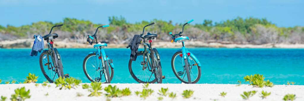 bicycles at Leeward Beach on Providenciales