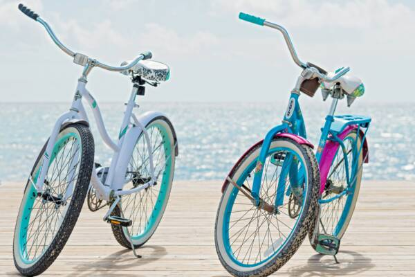 resort bicycles at South Caicos