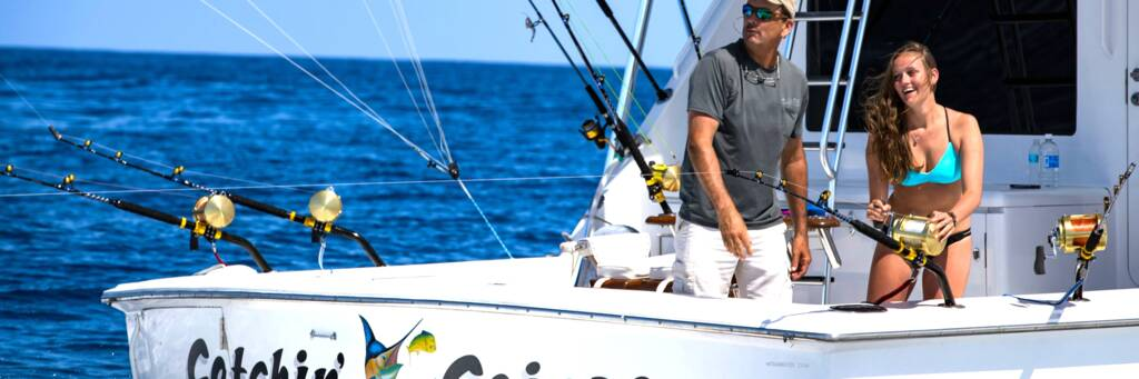 Deep sea sport fishing yacht in the Turks and Caicos